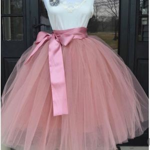 Women's tulle skirt with ribbon belt - one size